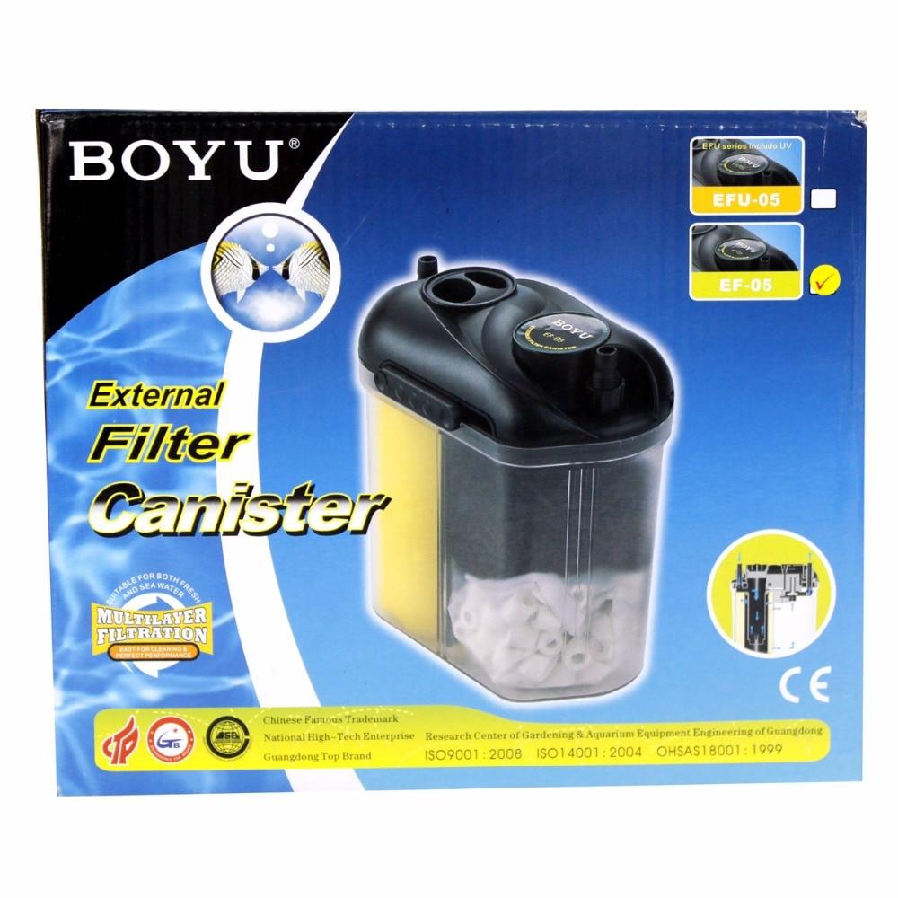 BOYU 150L/H réservoir de poisson filtre externe baril réservoir de poisson aquarium filtre boîte de filtre EF-05 adapté pour réservoir de poisson 70L