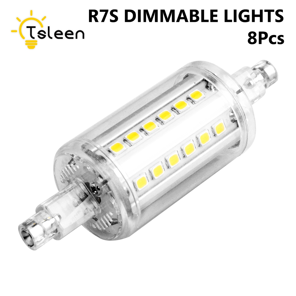 8Pcs 78 118 135 189mm Ampoule LED R7S Spotlight Bulb 5W 8W 10W 15W Dimmable R7S LED Diode Lamp High Lumen SMD 2835 Chip 85-265V hzled g24 8w 1000lm 3000k 40 smd 2835 led warm light bulbs white silver ac 85 265v