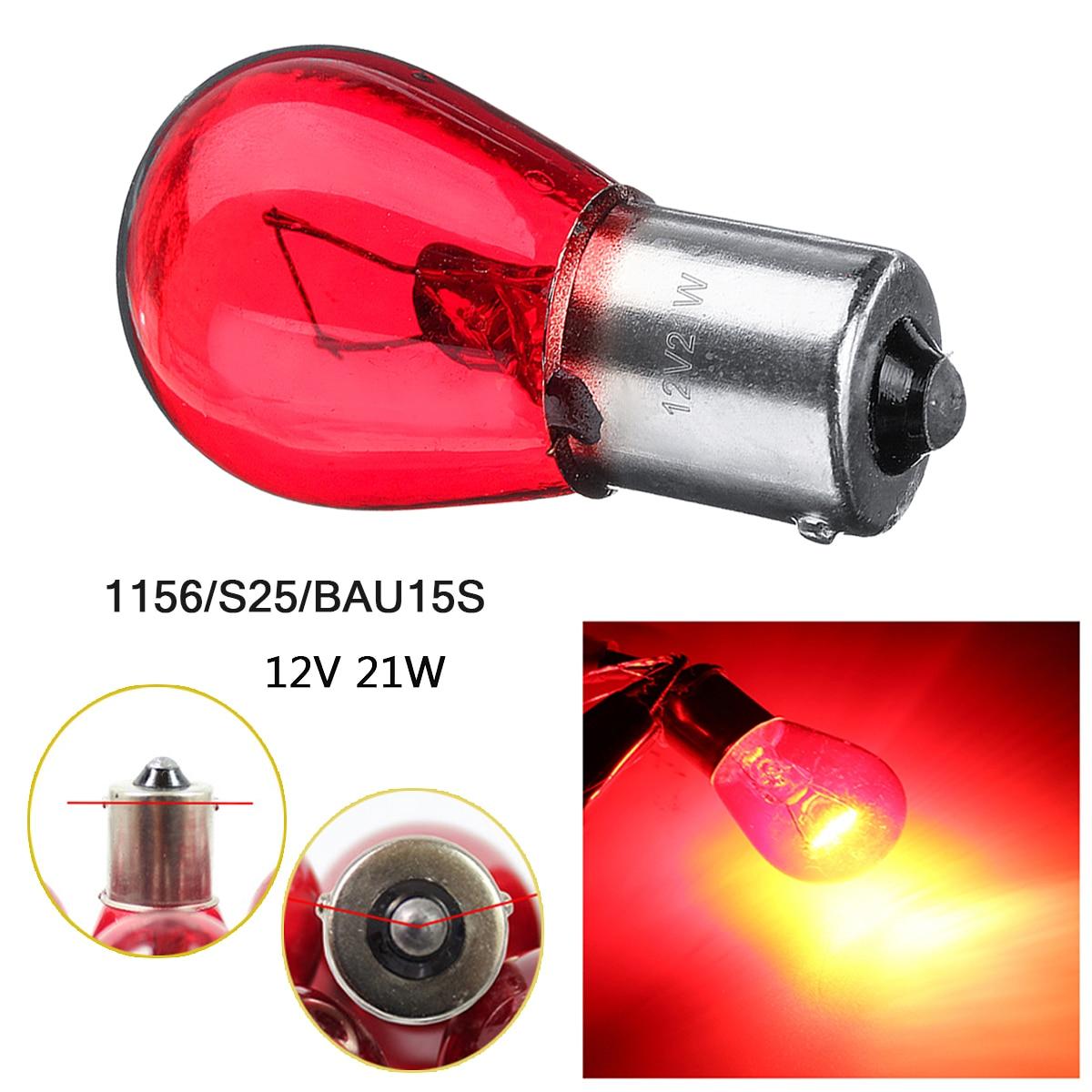 2/4 шт. 1156 S25 BAU15S красный светильник, лампа, стоп-сигнал, указатель поворота, лампа заднего хода