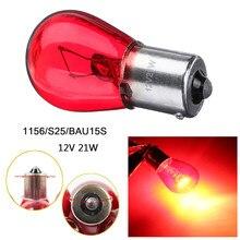 2/4 pcs 1156 S25 BAU15S Red Light Bulb Car Freio Parada Ligue Luz de Sinalização Lâmpadas Auto Reverso Cauda Lâmpada Indicadora