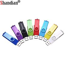 SHANDIAN Nova usb 2.0 flash usb otg akıllı telefon/tablet/pc 8 gb 16 gb 32 gb 64 gb gb pendrives kalem sürücü(China)