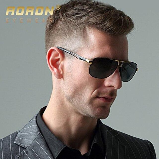 AORON Men's Polaroid Sunglasses Men Goggles Luxury Design Aluminum Magnesium Frame Sun Glasses Vintage Oculos de sol 2