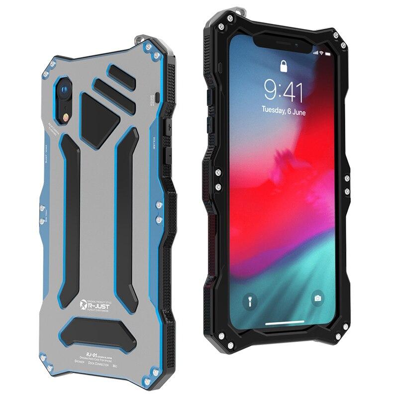 De luxe En Métal En Aluminium Alliage Silicone Double Couche De Protection Heavy Duty Téléphone étui pour iphone XS Max XR X 6 6 S 7 8 Plus la Couverture