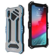 Роскошный Металлический Алюминий сплав силикона двухслойная защита для тяжелых условий эксплуатации чехол для телефона для iPhone XS Max XR X 6 6 S 7 8 плюс крышка