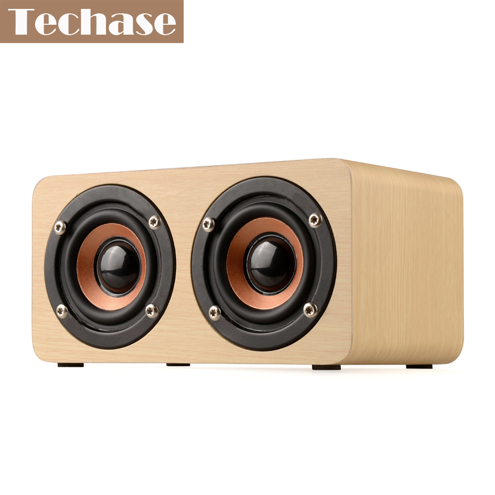 Techase Bluetooth Lautsprecher Bamboo Caixa De Som Drahtlose Mini - Tragbares Audio und Video - Foto 1