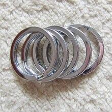 20 pçs/lote 12/15/20/25/28/30mm Círculo Chaveiro Chaveiro Achados de aço stinless fit Anel Keychain DIY Acessórios Círculos