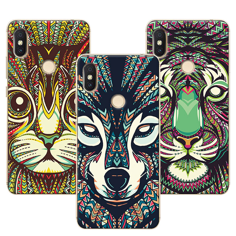 Mens Style Dark Wolf Phone Cases For Xiaomi Redmi S2 Cover Redmi S 2 Silicone Case Fundas For Redmi S2 5.99 inch Coque Capa