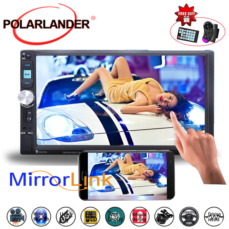 7 Inch MP5 Player Mirror Link Screen Stereo Car Radio FM USB TF 2DIN With Camera Touch Screen Bluetooth Mirror For Android Phone