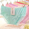 2017 New Women's Panties Fashion Bamboo Fiber Sexy Underwear Women Lace Briefs Woman Briefs Cute Young Girl Cotton Lingerie