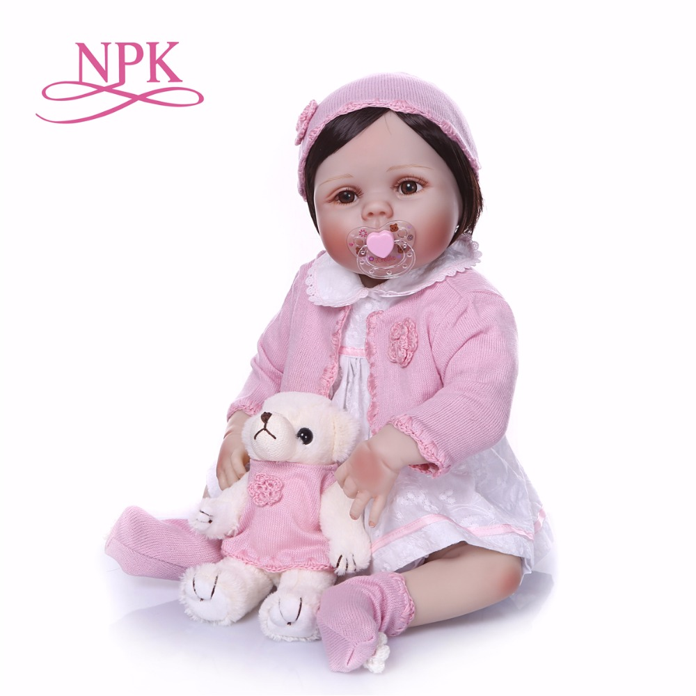 23inch full Silicone Vinyl Reborn Baby Girl Realistic Alive Newborn Babies Doll bebe Toddler For kids Xmas Gifts play house doll23inch full Silicone Vinyl Reborn Baby Girl Realistic Alive Newborn Babies Doll bebe Toddler For kids Xmas Gifts play house doll