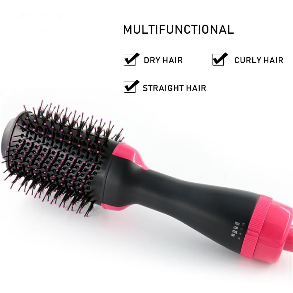 One Step Hair Dryer And Volumizer, Straightening Brush Hot Air Paddle Styling Brush Negative Ion Generator Hair Straightener