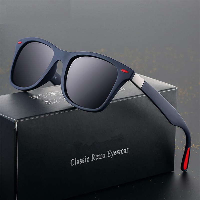 CHUN BRAND DESIGN Classic Polarized Sunglasses Men Women Driving Square Frame Sun Glasses Male Goggle UV400 Gafas De Sol M140
