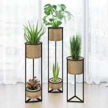 Европейский кованый цветочный стеллаж для гостиной, интерьер, современный минимализм, Северное растение