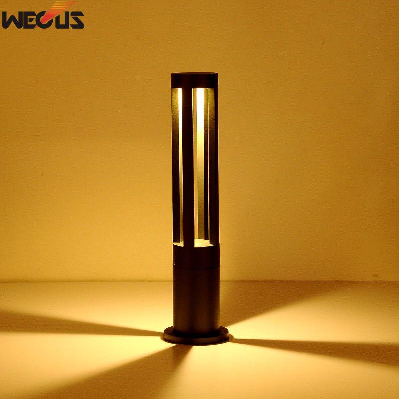 Moderní jednoduchá venkovní vodotěsná lampa na trávník, LED hliníková zahradní svítidla, lampy zahradní trávy