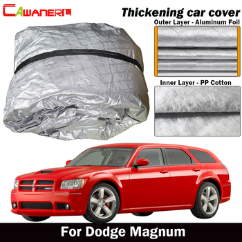 Cawanerl 3 Layer Car Cover Waterproof Thick Cotton Outdoor Anti-UV Sun Shade Rain Hail Snow Protect Car Cover For Dodge Magnum