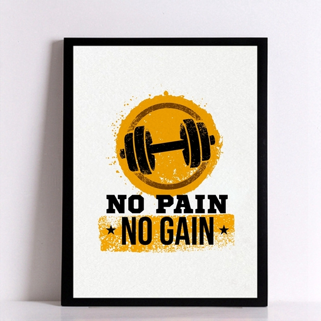 Workout Gym Motivational Quote Poster Canvas Art Print Inspirational Fitness Painting