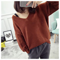 NEW hot sale women's autumn winter spring loose knit sweaters woman college wind casual sweet soft pullovers sweater 5 colors
