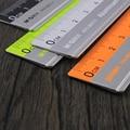 Con la escala regla mapeo Medición de papelería de oficina 15 cm/20 cm/30 cm regla de acero inoxidable regla Regla de corte de acero