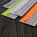 Con la regla de escala de medición de papelería de oficina 15 cm/20 cm/30 cm Acero inoxidable regla corte de acero gobernante
