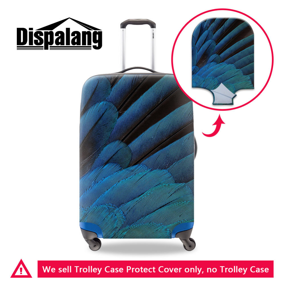 Dispalang Portable Elastic Travel Luggage Cover Feather Stretch Protect Suitcase Cover Apply To 18-30 Inch Case Luggage Covers