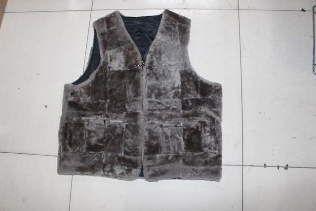 Men's fashion gentleman warm fur vest winter spring free shipping
