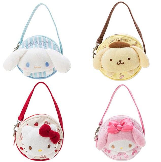 d38ba8971 Kawaii Cute 3D Hello Kitty Cat My Melody Dog Plush Mini Small Canvas  Shoulder Messenger Bag Crossbody Bags for Baby Girls Kids