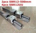 2 unids SBR12-500mm guía lineal + 4 unids SBR12UU bloquear cnc router