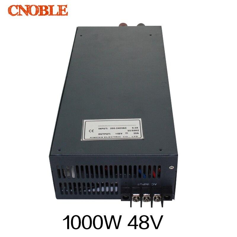 цена на 1000W 48V 20A 110V input Single Output Switching power supply for LED Strip light AC to DC
