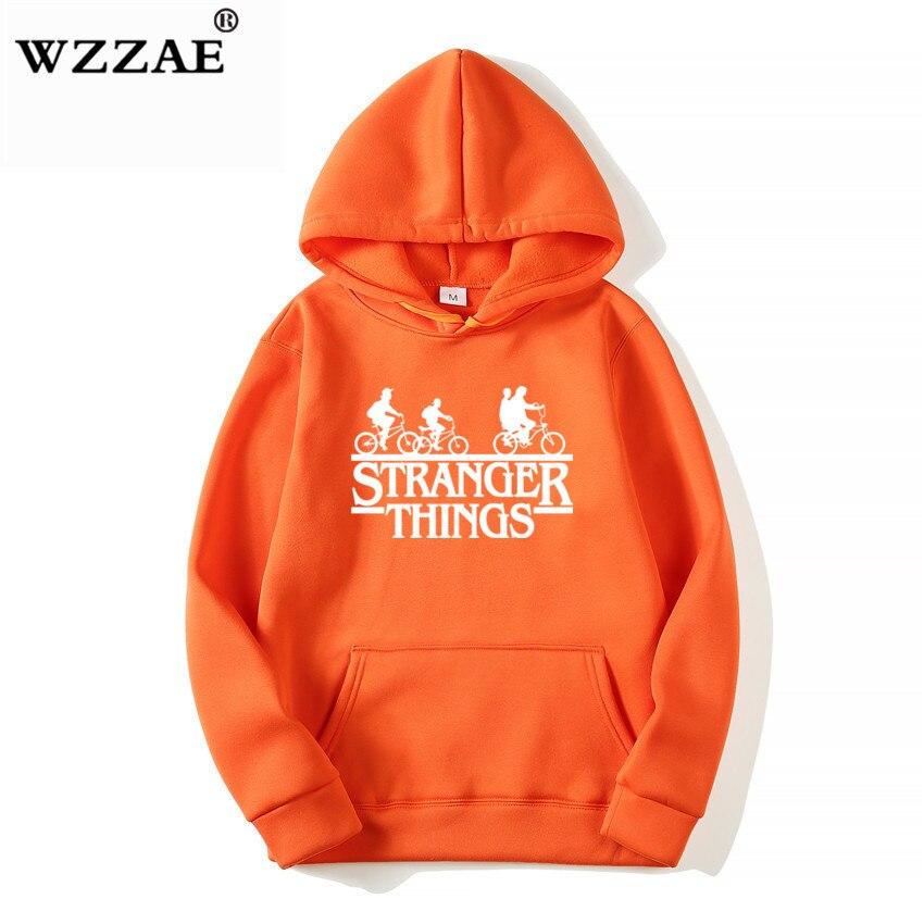 Trendy Faces Stranger Things Hooded Hoodies and Sweatshirts 22