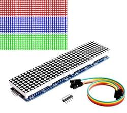 Матричный Модуль MAX7219, микроконтроллер 4 в одном дисплее с линией 5P