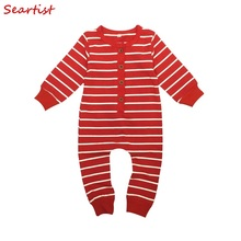 Seartist Baby Girls Boys Spring Romper Newborn Striped Jumpsuit Infant Jumper Outfit Baby Pajamas Baby Girls Clothes 2019 New 20 цена и фото