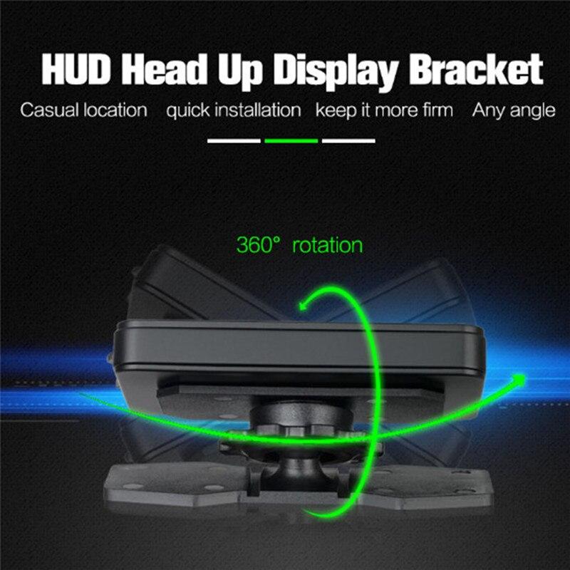 Universal Flexible Rotation Holder Car HUD Head Up Display Bracket Phone Holder - Work for HUD Mobile Phone GPS Navigator E-Dog