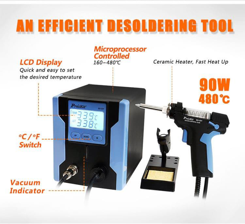 NEW Temperature Controlled Vacuum Desoldering Station! Home power tool