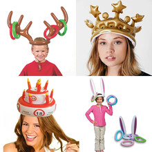 Inflatable Ring Toss Game Toys For Children Adult Kids Birthday Party Infant Hat Girls Boys Crown Christmas Wedding Novel Props(China)