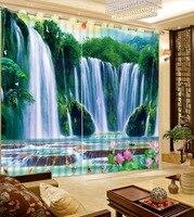 Blackout vorhang Wasserfall Luxus Blackout 3D Fenster Vorhang Für Wohnzimmer büro Schlafzimmer