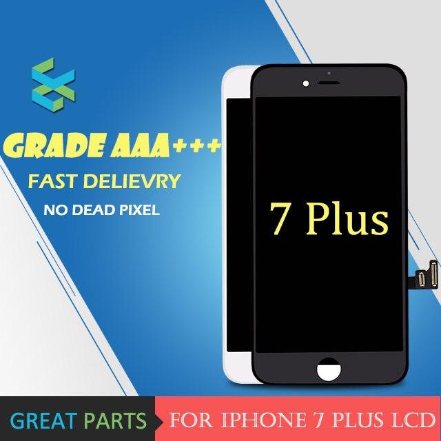 imágenes para 3 UNIDS Grado AAA LCD 5.5 pulgadas Para iPhone 7 Más LCD pantalla Con Buena 3D Touch Screen Reemplazo Digitalizador Asamblea Envío Gratis