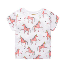jumping meters Kids Girl T Shirt Summer Baby Cotton Tops Toddler Tees Clothes Children Clothing Unicorns Baby Girls T-shirts jumping meters kids girl t shirt summer baby cotton tops toddler tees clothes children clothing unicorns baby girls t shirts