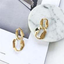 все цены на Fashion personality dark metal atmosphere European and American girl Studs Earrings Geometric  fashionable  earrings онлайн