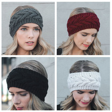 Women Wool Knit Crochet Solid Twist Headband Ear Warmer Twist Knitted Woolen Hair Band Earmuffs Autumn Winter Fashion Headband цены