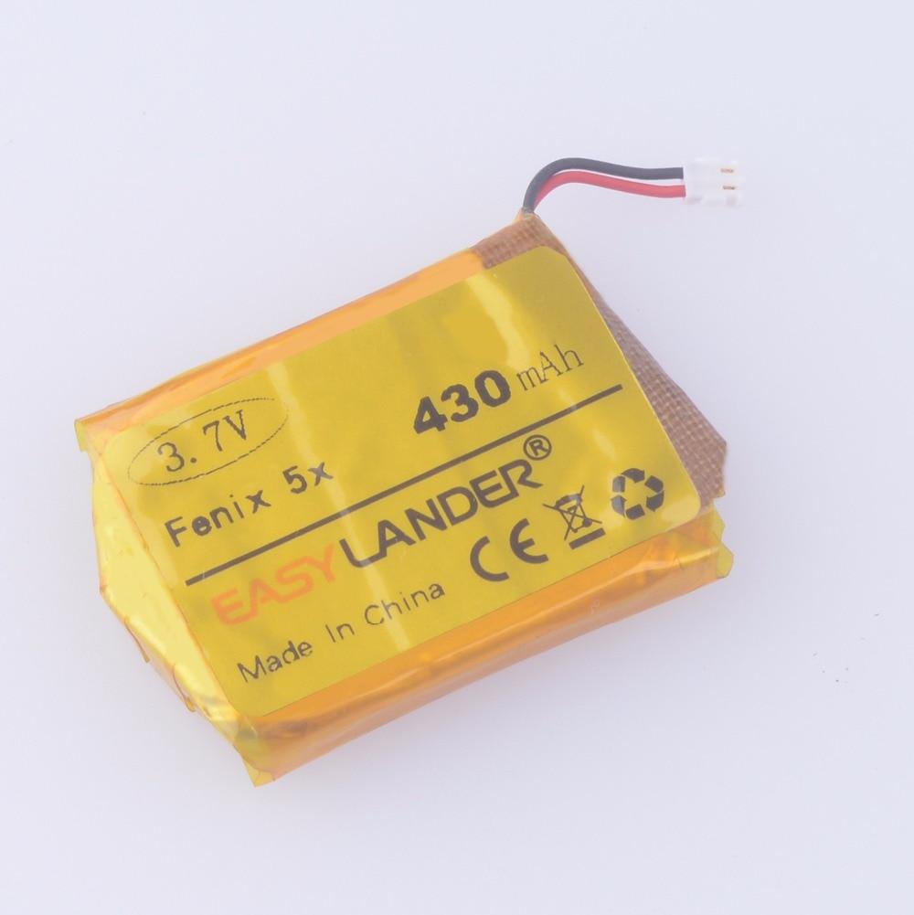 Easylander 3.7V 430mAh Replacement Battery For Garmin fenix 5X GPS sports watch 361 00098 00 ASDB542437 P1