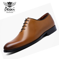 DESAI Men's Business Formal Dress Shoes With Comfortable Cow Leather Shoes Classic Retro British Style Shoes for Men Oxfords