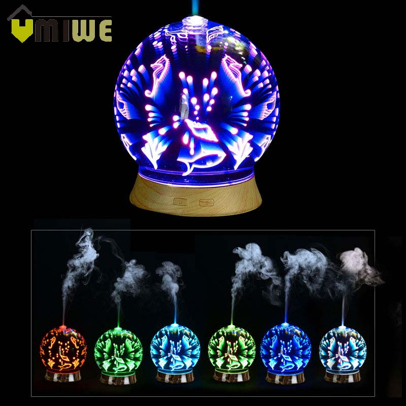 3D Fireworks Glass LED Light Humidifier Essential Oil Aroma Diffuser Ultra-quiet Ultrasonic Cool Mist Aromatherapy Humidifier3D Fireworks Glass LED Light Humidifier Essential Oil Aroma Diffuser Ultra-quiet Ultrasonic Cool Mist Aromatherapy Humidifier