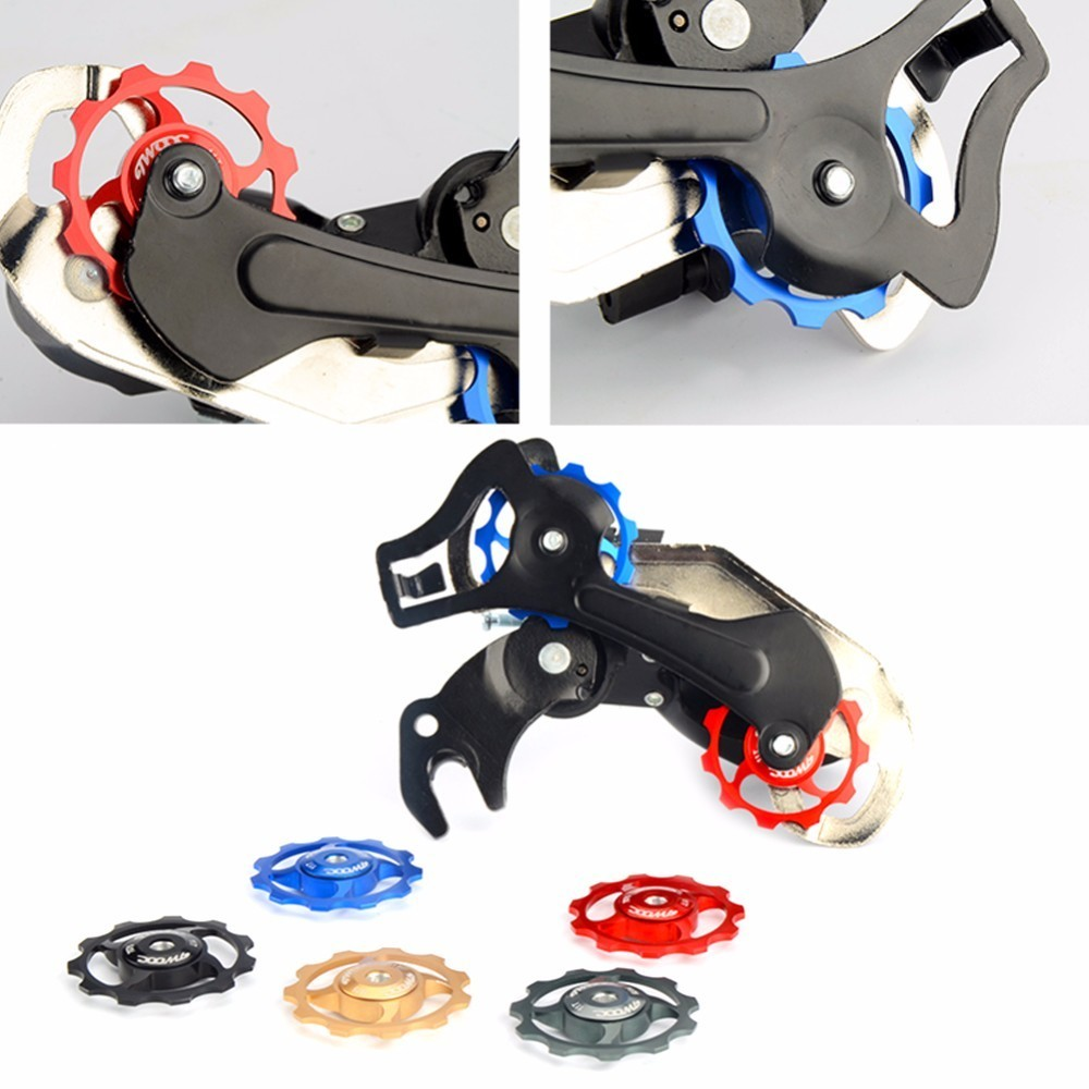 11T 13T MTB Bicycle Rear Derailleur Pulley Jockey Wheel Ceramic Bearing Road Bike Guide Roller Idler Part Cycling Accessory ztto 11t mtb bicycle rear derailleur jockey wheel ceramic bearing pulley al7075 cnc road bike guide roller idler 4mm 5mm 6mm