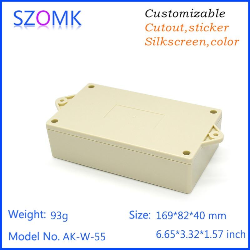 4pcs plastic wall mount instrument enclosure szomk control box plastic Enclosure for PCB power shell Electric