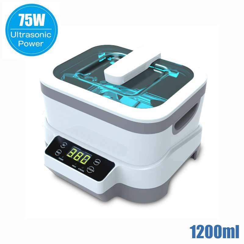 1200 мл цифровой ультразвуковой очиститель 60 Вт Сплит ультразвуковая Чистящая машина Профессиональный очиститель ювелирных часов оборудование для мойки