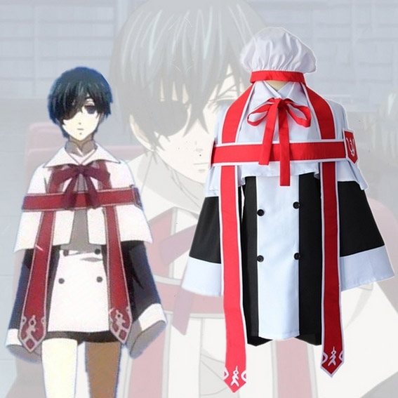 Kuroshitsuji Cosplay Costume Ciel Phantomhive Cosplay Costume Black Deacon Uniform Outfit Anime Cosplay Costumes Halloween Party