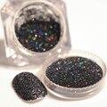 2 g/caja Holográfica Láser Negro Polvo Magnífico Manicure Nail Art Escarcha Polvo Del Polvo
