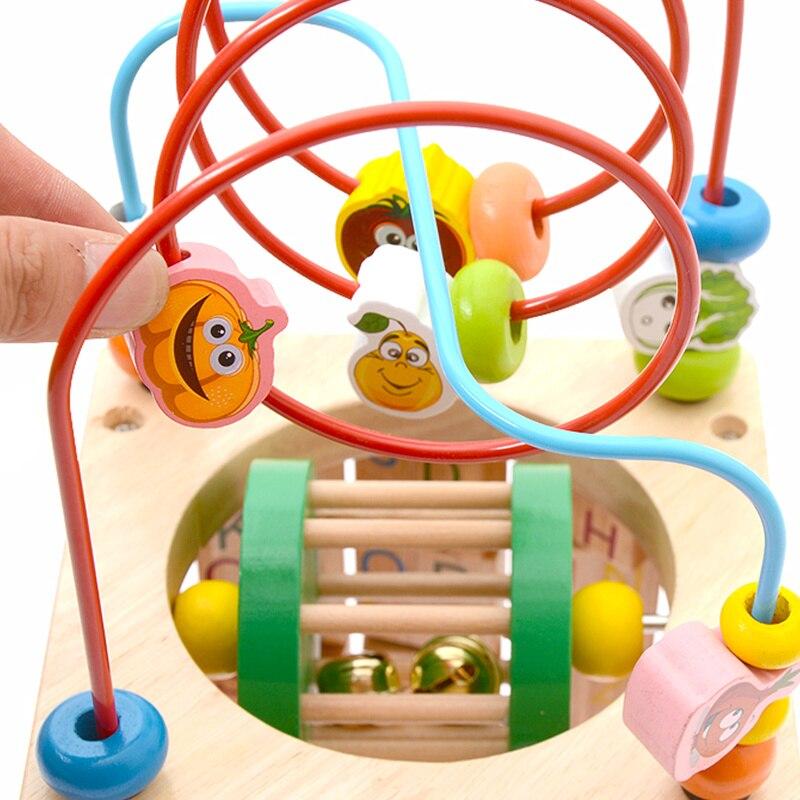Montessori Math jouet jouets en bois pour enfants Multi fonction boulier horloge perles jouet éducatif enseignement aides pour enfants bébé - 4
