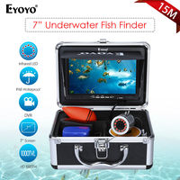 Eyoyo 7 Color Fish Monitor DVR 15m Professional Fish Finder Underwater Ice Fishing Video Camera 1000TVL
