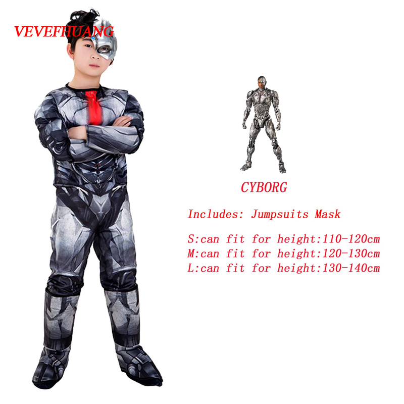 VEVEFHUANG Avengers Heroic Cyborg Onesies Birthday Party Carnival Clothes Very Cool Gift Halloween Cosplay Costume For Kids